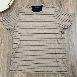 Banana Republic luxury Tan Striped T Shirt L